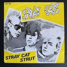 "STRAY CATS - Stray Cat Strut 1981 7"" Record Netherlands single Arista 103.183"