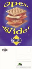 TRISCUIT CRACKERS UNUSED ADVERTISING COLOUR POSTCARD
