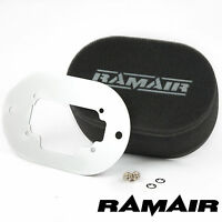 RAMAIR Carb Air Filters With Baseplate Weber 3B DGAS/DGMS 65mm Bolt On