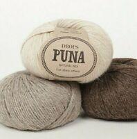 Drops PUNA - Pure alpaca softness, DK / Light worsted 1.8 oz / 50 grams balls