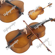 More details for 4/4 size wood cello for student beginners professional player matte golden