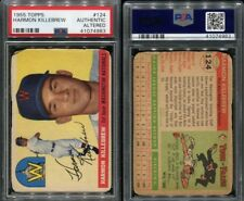 1955 TOPPS #124 HARMON KILLEBREW PSA 0 AUTHENTIC ALTERED (4983)
