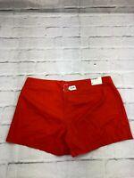 NEW Old Navy Est.1984 Women's Size 16 W38 100% Cotton Mid Rise Shorts Orange