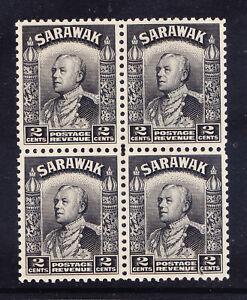 SARAWAK 1941 SG107a 2c black - unmounted mint - block of 4. Cat £19 as singles