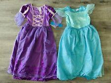 Disney Store Rapunzel Tangled & Ariel Mermaid Nightgown Pajama Dress Girls 9/10