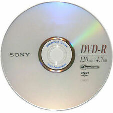 15 SONY Blank DVD-R DVDR Silver Logo Branded 16X 4.7GB 120min Media Disc