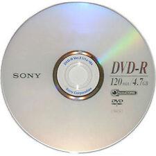 25 SONY Blank DVD-R DVDR Silver Logo Branded 16X 4.7GB 120min Media Disc