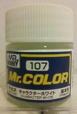 """Gunze Sangyo """"Mr Hobby"""" C-107 acrylic paint Semi-gloss  Character white."""