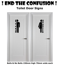 Toilet and Bathroom Door sign vinyl decal sticker pack of two Funny