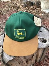 Vintage John Deere Snapback Trucker Hat Green - K Products Usa - Nos w/Tag