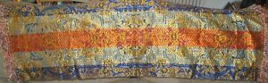 """GOLD THREADED ASIAN  Floral Tapestry / Runner -  44"""" x 15"""""""