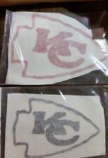 3 x 4 Kansas City Chiefs NFL Football Vinyl Decal White, red or black or white