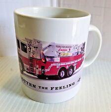 New Ceramic Firetruck Firefighter 11 oz. Coffee Mug Tea Cup