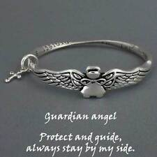 Guardian Angel Bracelet Protect and Guide Wings SILVER Inspirational Jewelry