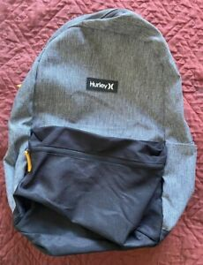Hurley - Grey/Black Back Pack with laptop storage - New