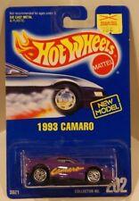 1993 Camaro Hot Wheels 1991 Blue Card #202 Purple w/Ultra Hots