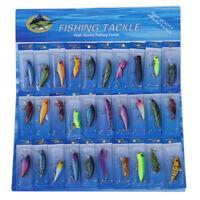30 X metallo misti Spinners Pesca Esche Ciprinidi luccio salmone Bass trota A6S3