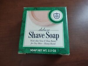 Van Der Hagen Deluxe Face Shave Soap With Aloe Vera & Shea Butter for Dry Skin