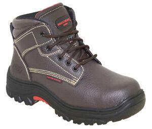 Skechers Men's Burgin Tarlac Steel Toe Work Boot Style 77143 BRN
