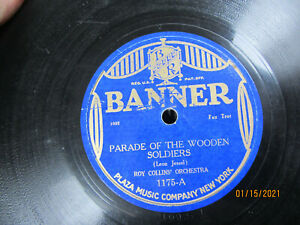 """10"""" 78 rpm RECORD BANNER 1175 ROY COLLINS PARADE OF THE WOODEN SOLDIERS / MISTER"""