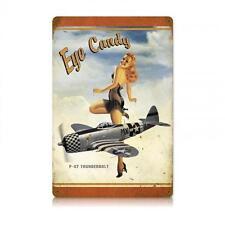 Pin Up Girl Military P-47 Plane Nose Art Metal Sign Man Cave Garage Shop V630