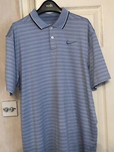 Mens Nike Golf Dri-Fit Polo Blue Size Medium