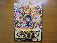 ONE PIECE FILM GOLD MOVIE FLYER Mini Poster Chirashi ver.2 Japan 28-3-1