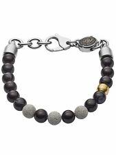 Diesel Herren Armband Edelstahl Silber schwarz 21,5 cm DX1192040
