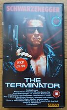 The Terminator  Iconic Sleeve  Virgin Release 1988 - Video  - Pal VHS Rated 18