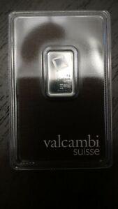 5 gram Platinum Bar - Valcambi (In Assay)