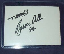 Nhra Driver Pro Stock Bruce Allen Hand Signed Index Card