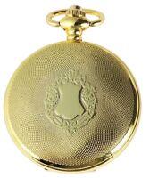 Taschenuhr Weiß Gold Klassik Wappen Analog Quarz Metall D-180302200057500