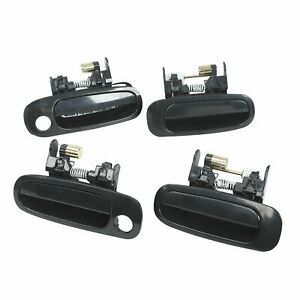 4Pcs Outside Door Handles Left Right Front Rear fit for 1998-2002 Toyota Corolla