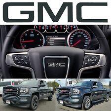 Dark Slate Metallic GMC Steering Wheel Emblem Vinyl Decal 2014-2018 Sierra Yukon