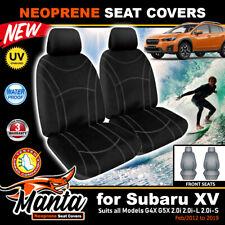Manta Custom Front Black Neoprene Seat Covers for Subaru XV G4X G5X 2/2012-2019