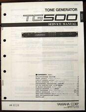 Yamaha TG500 Rack Synthesizer Tone Generator Original Service Manual, Schematics