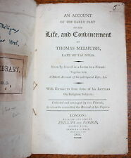 1805 Life Convincement Thomas Melhuish TAUNTON Quakers Society Friends 1st Ed