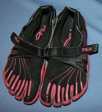 Fila Pink Black Skele-toes Sz 4 Girls Walking Running Shoes Skeletoes Youth