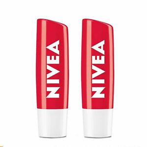 [NIVEA] Lip Balm Care SPF10 Fruity 24H Hydrate Fruity Shine Strawberry 2×4.8gr
