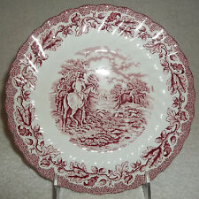 """Myott Staffordshire Country Life Pink 7 3/4"""" Salad Plate Hutch or Decorative"""