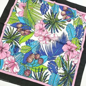 Vtg 50/50 Bandanna Wamcraft Tropical Print Made in USA Cotton Poly Parrothead