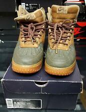 Nike Air Force 1 Duckboot 444745-201 Beach Tree/Dark Army/Light Gum Brown sz8.5