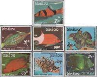 Laos 1038-1044 (kompl.Ausg.) postfrisch 1987 Fische