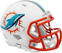 Riddell Miami Dolphins Flat White Alternate Revolution Speed Mini Helmet