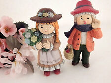 Children Figurines German Boy and Girl VTG Hand Painted Mid-Century Collectible