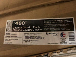 """Armstrong Ceiling Planks 480 White 40sq Ft Per Box Size 6""""x 48""""x 0.5"""""""