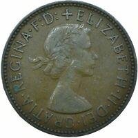 1954 HALF PENNY GB UK QUEEN ELIZABETH II. COLLECTIBLE COIN  #WT21650