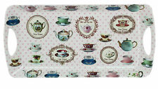 MEDIUM MELAMINE TEA TIME SERVING TRAY FOR SNACKS/SANDWICHES/CAKES/BISCUITS/CAKE