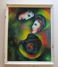 SURREALISM ABSTRACT EXPRESSIONIST PAINTING RUSSIAN ? HUNGARIAN? CHAGALL STYLE