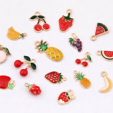 20PC Enamel Fruit series Alloy Pendant Cherry Strawberry Charms Accessories 1201